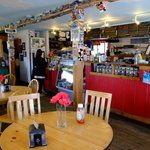 Interior of Cowpuccino's Coffee House, Cow Bay, Prince Rupert