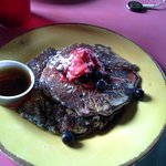 Delicious blue corn pancakes