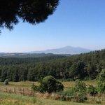 stupenda veduta del monte Amiata