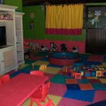 indoor play area with aircon