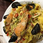 Seafood pappardelle - gorgeous!