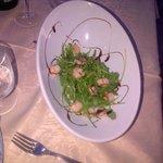 insalata rucola e gamberi