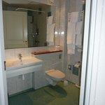 Fräscha badrum på hotellet