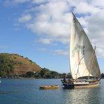 Traditional Malagasy boat Madirokeley Beach