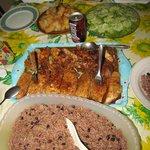 exquisita comida cubana preparada por la señora Sonia.