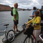 Mike giving us the hostory Of Copenhagen harbor