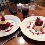 Summers Pudding & Peach & Vanilla Pannacotta