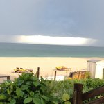 View from pool bar (coconuts) during storm