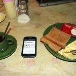 First breakfast in hotel