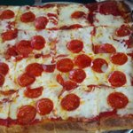 Large Sicilian Pizza could easily feed a family of 4