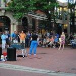 Street performance at Pearl Street