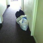 Garbage in hallway