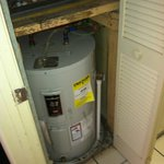 Hot water heater and furnance in ROOM