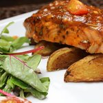 Baked Fillet of BBQ Salmon