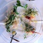 A ta gueule lunch set appetizer - fugu and shrimp