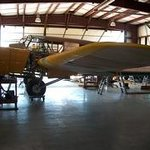 Restoration area: Avro Anson trainer being worked on