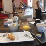 the lovely breakfast