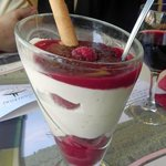 Tiramisu with berry compote - Delicious.