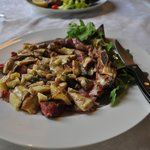 Tagliata with fresh porcini mushrooms