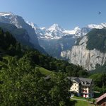 View from Alpenrose Hotel Wengen