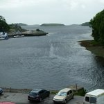The view from my room at the Central hotel, overlooking Donegal Town harbour.
