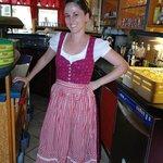 Krisztina in the bar