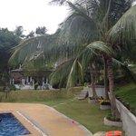Main villa beside pool
