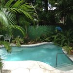 Jacuzzi outside of Jungle Suite