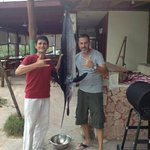 Mauro and Marco with the Marlin