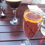 espresso martini and a sparkling cocktail