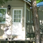 View of front of cabin