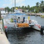 Le catamaran pour le snorkelling