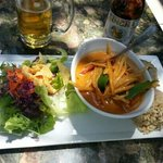 red curry and brown rice