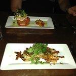 Chorizo and Shrimp, Tomato and Lobster salad