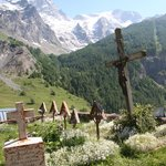 View from church cemetary in La Grave
