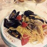Linguine ai frutti di mare accompagnate da uno splendido Fiano di Avellino!