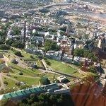 vue aérienne de la Citadelle et de la Marquise!