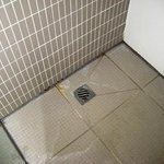 Unclean shower floor