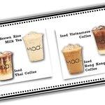 Iced Brown Rice Milk Tea, Iced Thai Coffee, Iced Vietnamese Coffee & Iced Hong Kong-Style Coffe!