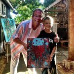 """Me and Angelo with his work """"Jellyfish"""""""