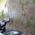 water accumulation creating mud