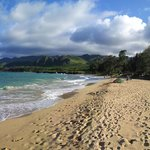 Panorama from Samsung Galaxy note of Laie Beach Park's beach and vista