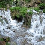 Roughlock Falls just behind lodge