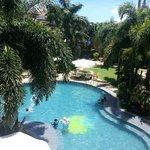 Warm swimming pool