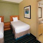 Twin beds two bedroom suite