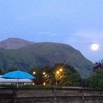 View from Lochan Cottage Guesthouse parking area