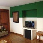 TV, frigobar e sofá no quarto Amazonas