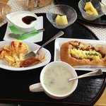 Delicious breakfast, only 500 Yen (about five dollars US)