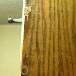 Door broken, hard to close, even more difficult to lock!