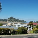 View from Harbourview Lodge of Mt Paku